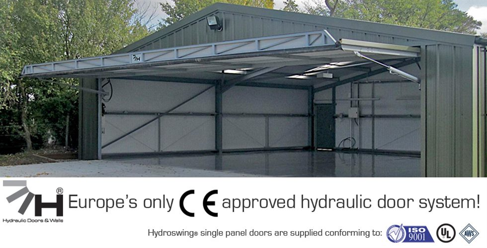 aircraft hangar door by hydroswing ce approved