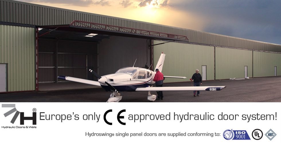 ce approved hydraulic hangar door