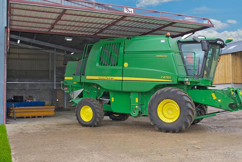 hydroswing combine shed tractor shed
