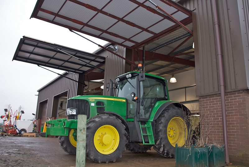 hydroswing europe uk agricultural john deere machine shed hydraulic door