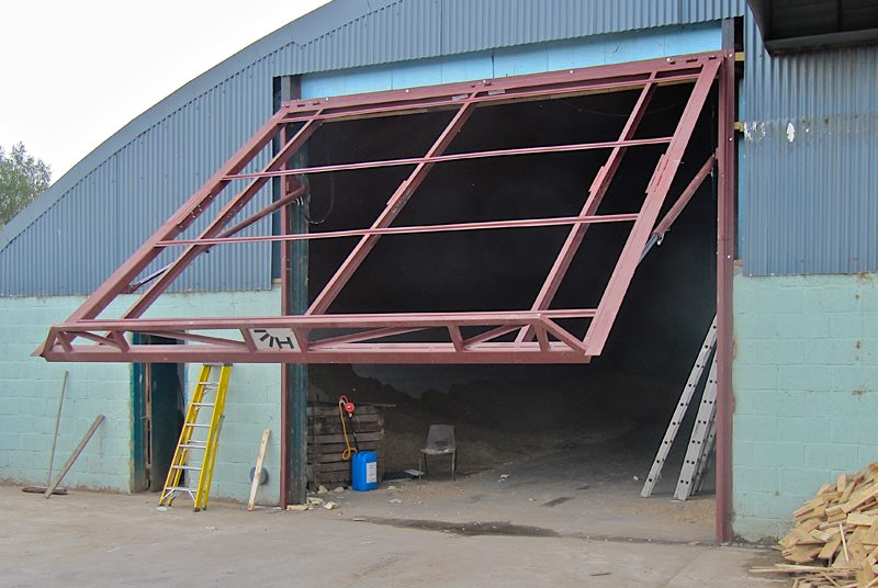 ... Hydroswing Europe Uk Agricultural Quonset Hydraulic Door Storage Shed  ...