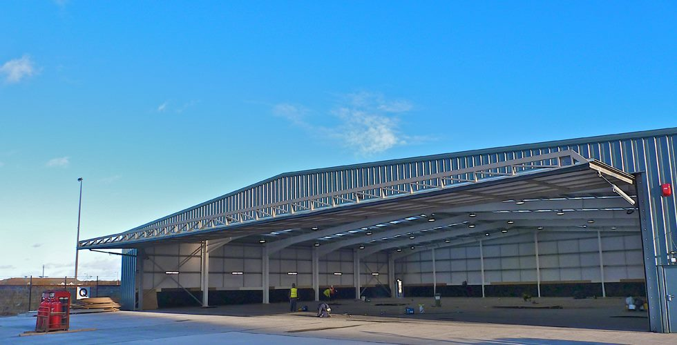 hydroswing uk europe bfd large span aviation hangar door