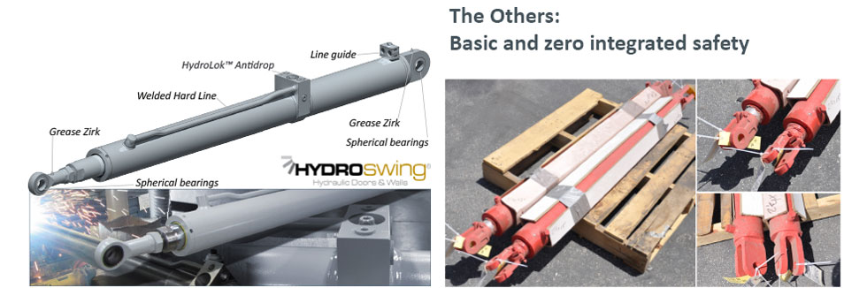 hydroswing cylinders compared to others