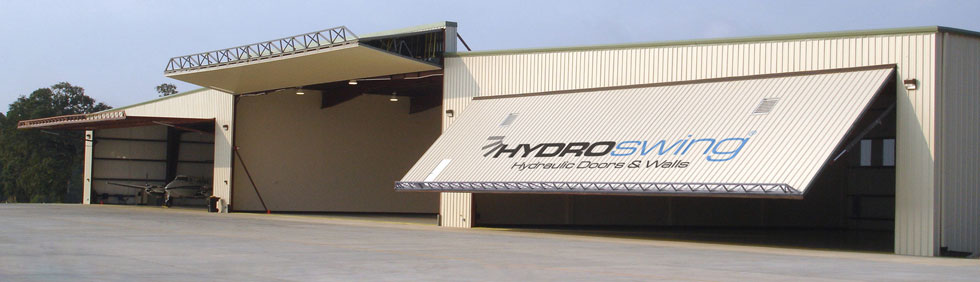 Hydroswing Europe Replace Bifold Hangar Door With Hydroswing